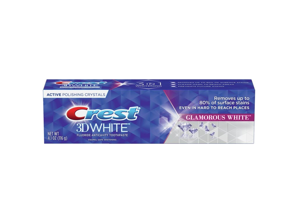 crest 3d bělící pasta glamorous white