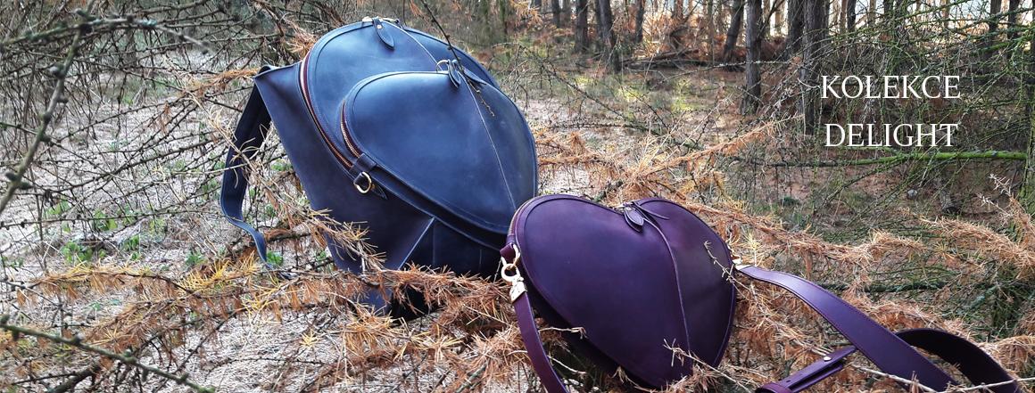 Ručně vyrobený celokožený batoh.
