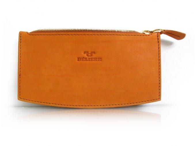 RETICULE (Barva kůže pull-up bleir - šedá (+500,-), Barva podšívky světle šedá, Zip zlatá)