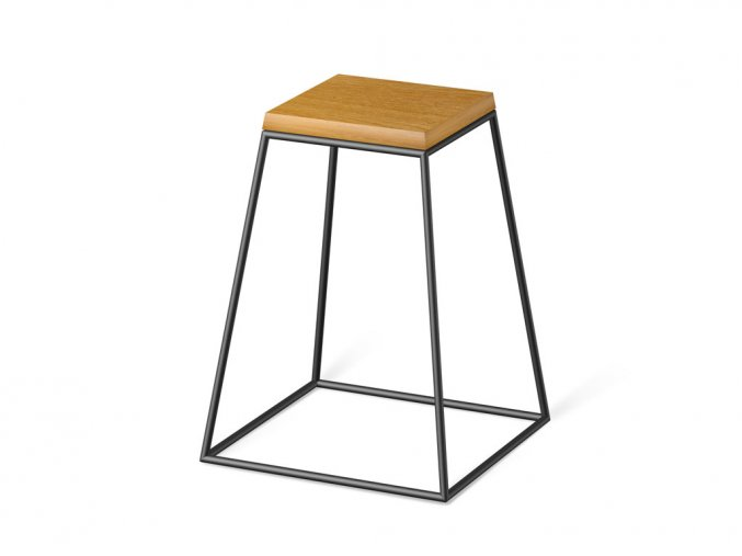 frustum table black wood small dub