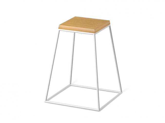 frustum table white wood small dub