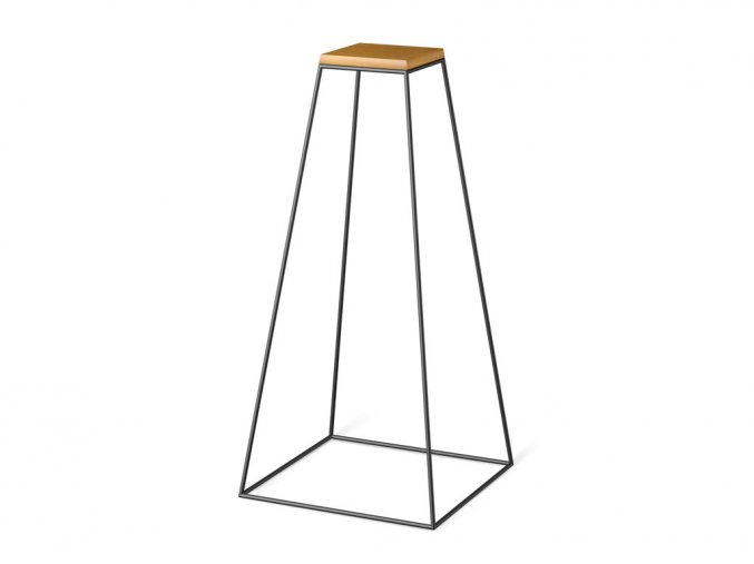 frustum table grande black wood small dub