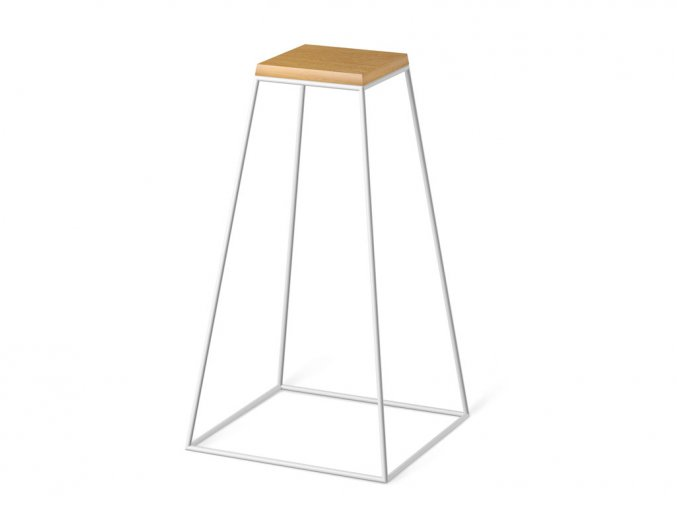 frustum table tall white wood small dub