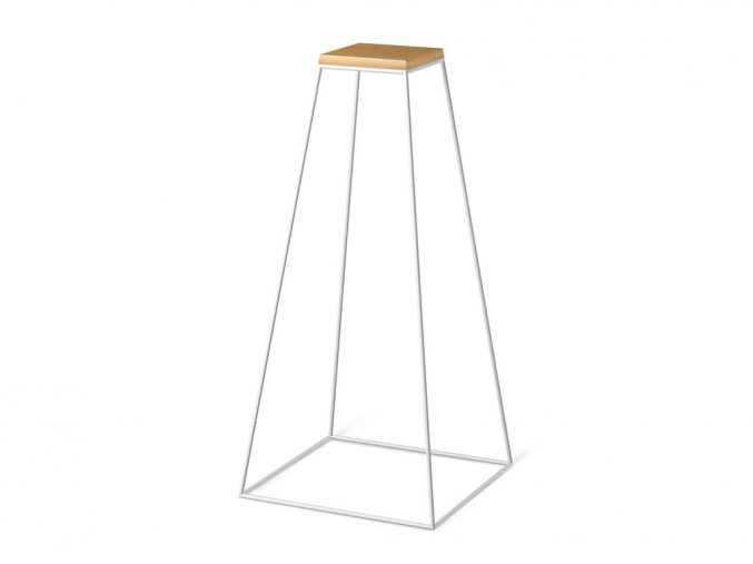 frustum table grande white wood small dub
