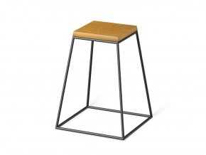 frustum table black wood small dub