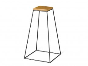 frustum table tall black wood small dub