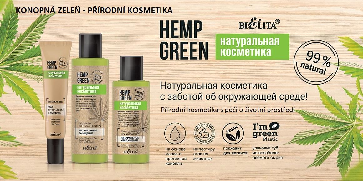 Konopná zeleň - přírodní kosmetika