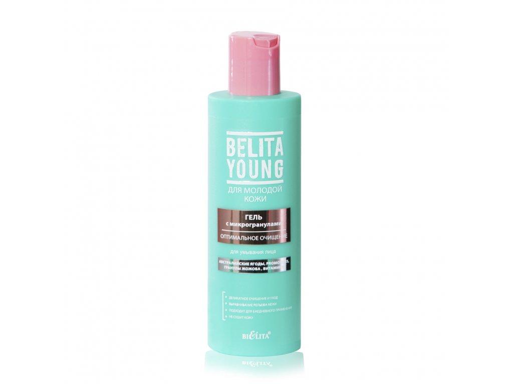 Belita Young – Gel s mikrogranulemi pro mytí obličeje optimální čištění