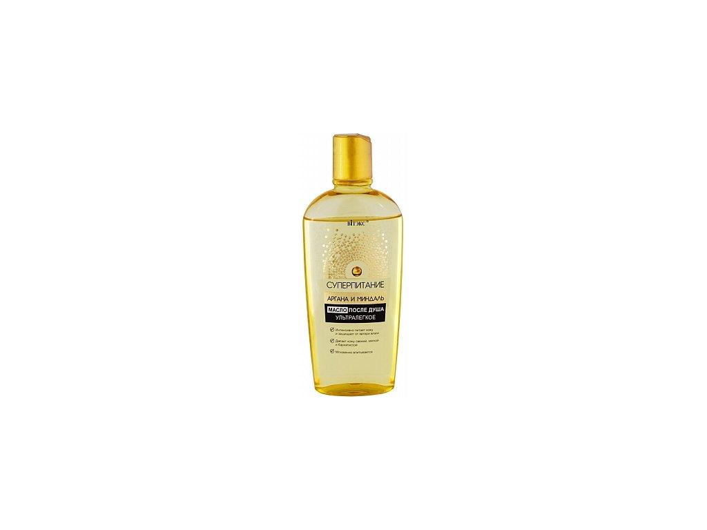 Super výživa – Olej po sprchování ultralehký s argonovým a mandlovým olejem
