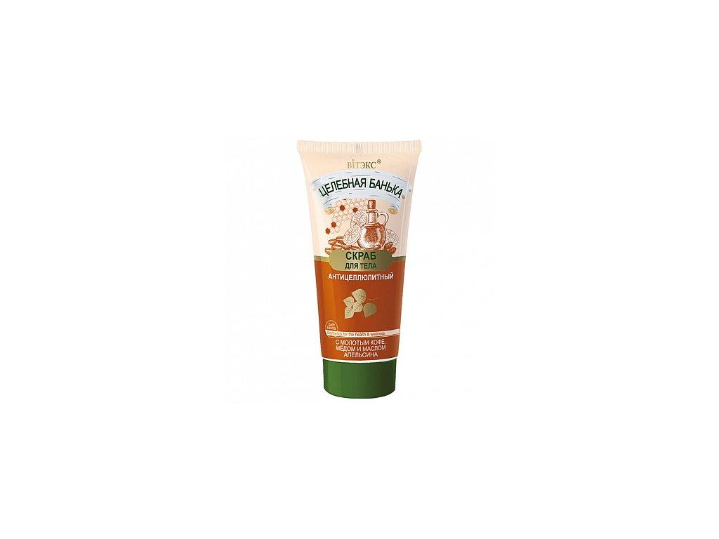 Léčebná lázeň – Peeling na tělo proti celulitidě s mletou kávou, medem a pomerančovým olejem