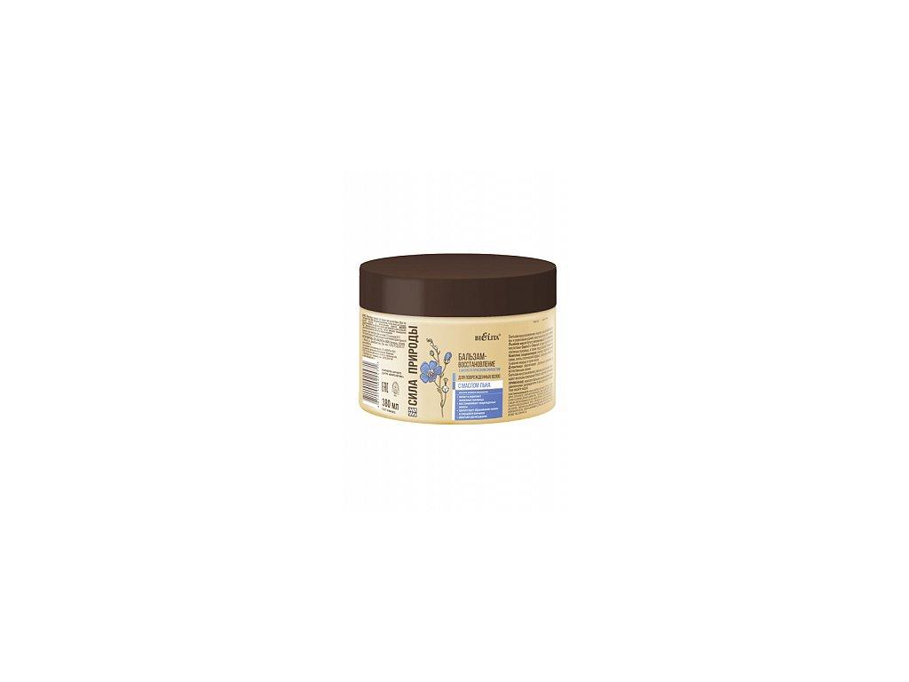 Síla přírody – Obnovující balzám na vlasy s lněným olejem pro poškozené vlasy s antistatickým účinkem