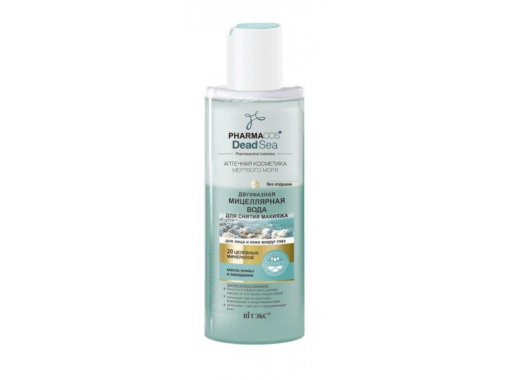 PharmaCos Dead sea dvoufázová micelární voda pro odstranění make upu