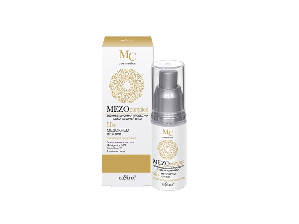 MezoComplex Mezokrém pro víčka 55+ komplexní omlazení 30 ml