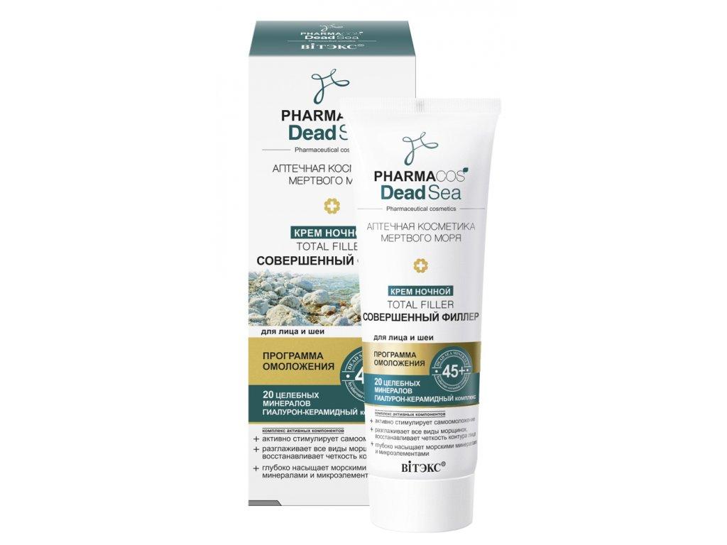 PharmaCos Dead sea Noční krém 45+ dokonalý filler na obličej a krk