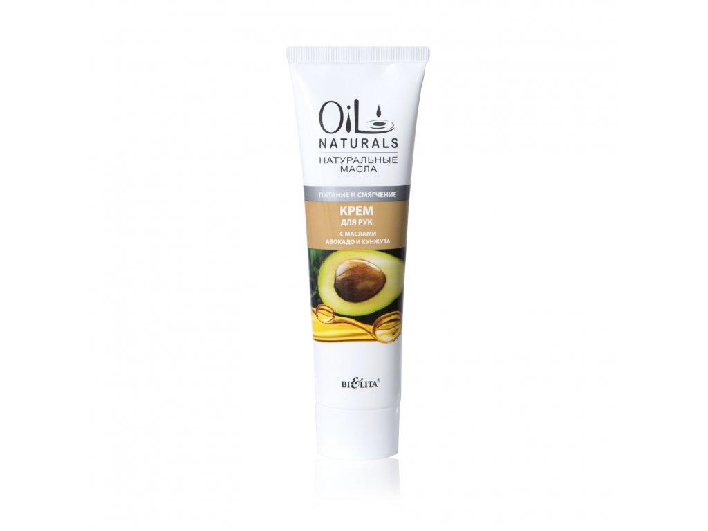 Oil Naturals – krém na ruce s avokádovým a sezamovým olejem – výživa a změkčení