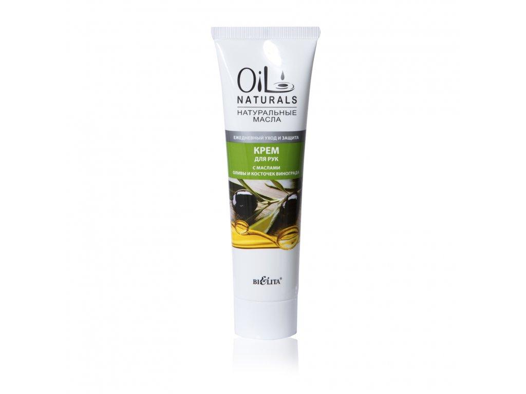 Oil Naturals – krém na ruce s olejem z oliv a hroznových semen – denní péče a ochrana