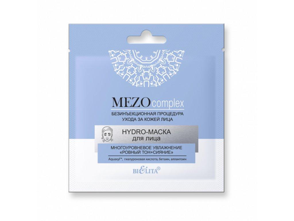 MezoComplex – HydroMaska pro tvář – vícevrstvá hydratace – vyrovnaný tón a jas