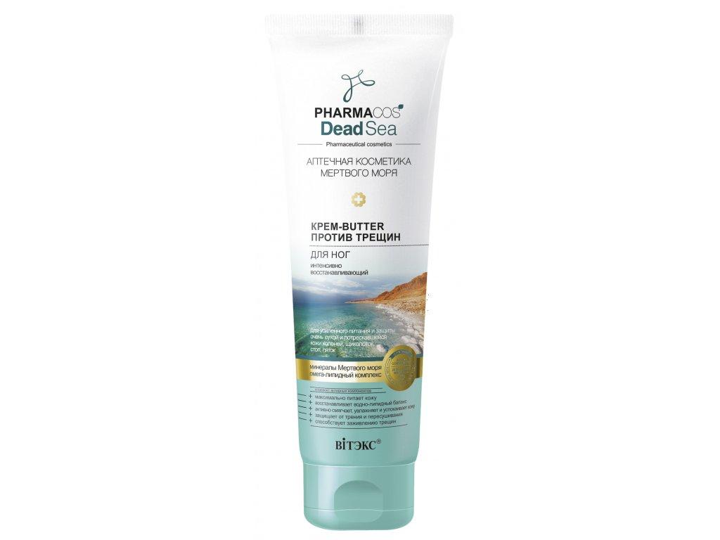 PharmaCos Dead sea Krém butter na nohy proti prasklinám pokožky – intenzivně obnovující
