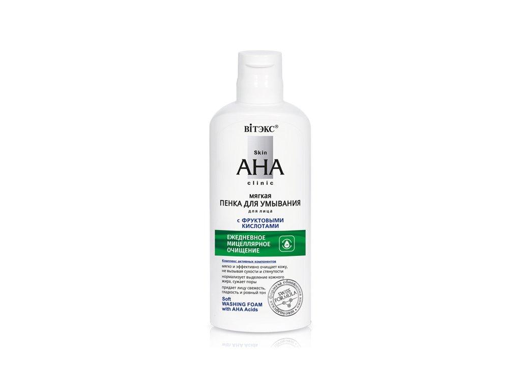 Skin AHA Clinic – Měkká pěna na mytí obličeje s ovocnými kyselinami