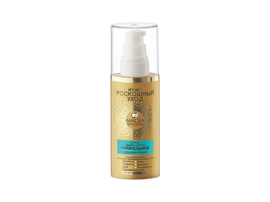 Luxusní péče – Výživný suchý kosmetický olej pro všechny typy vlasů
