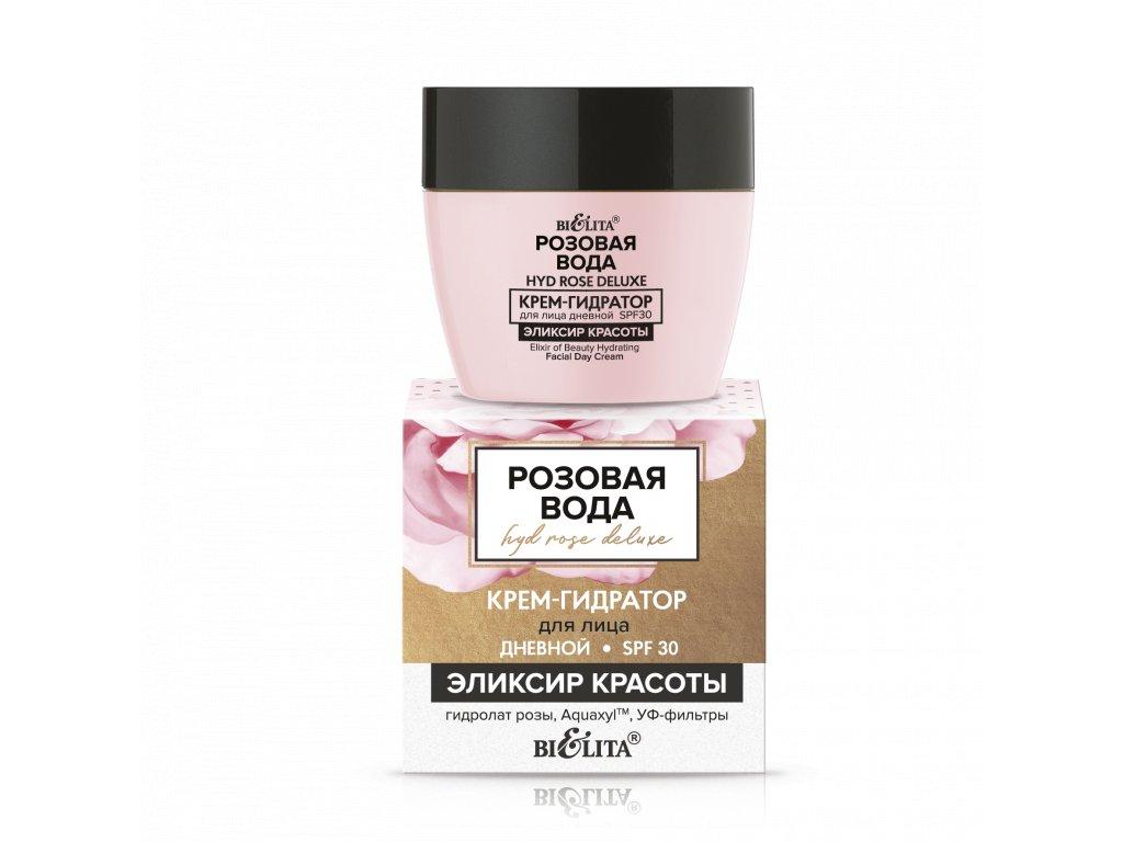 Růžová voda – Denní hydratační krém na obličej SPF 30