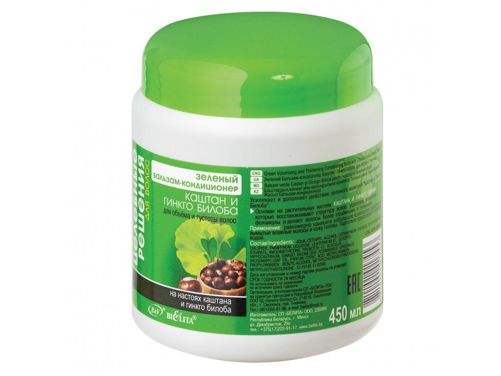 Zdravotní řešení – Zelený balzám – kondicionér pro objem a hustotu vlasů kaštan a ginkgo biloba