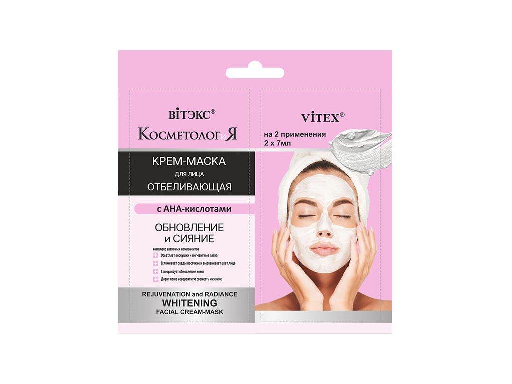 Kosmetologie Bělící krém maska na obličej Obnova a jas