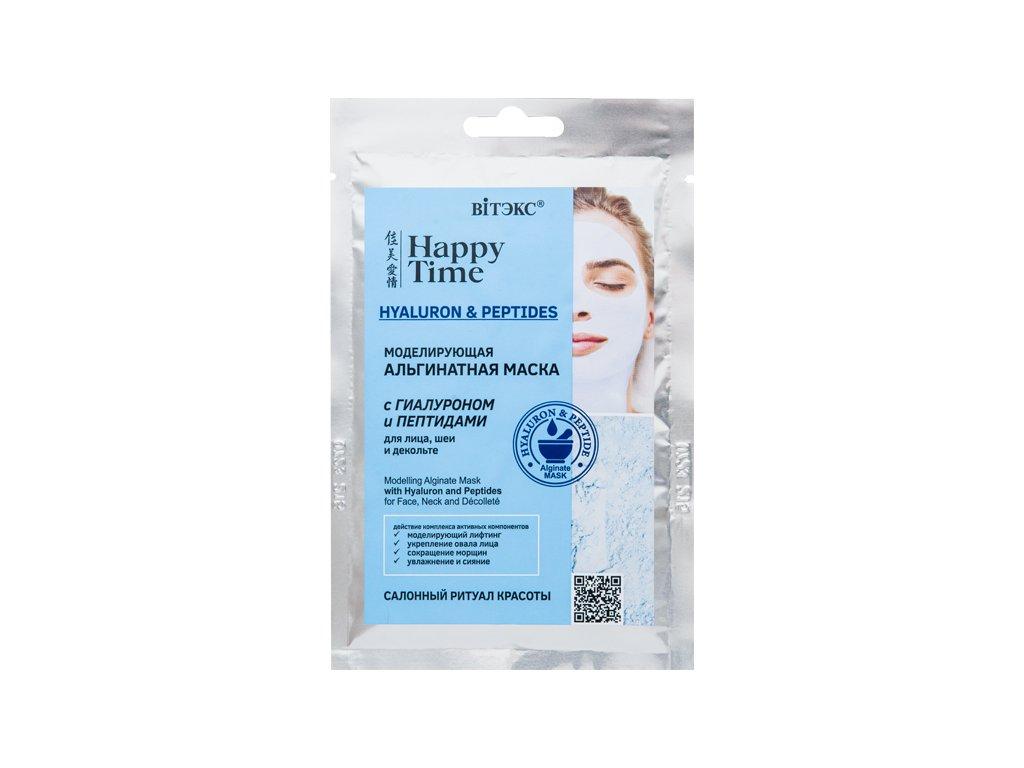 Happy Time – Alginátová pleťová maska s hyaluronem a peptidy na obličej, krk a dekolt