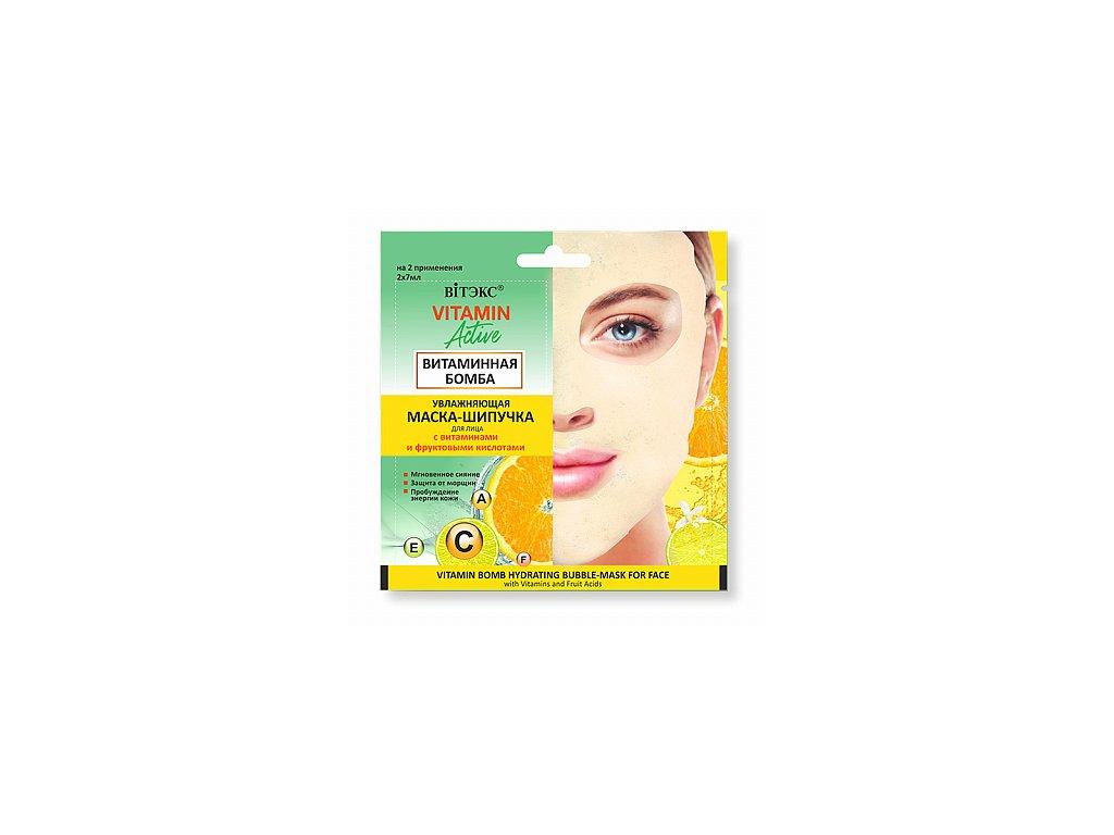 Vitamin Active – Hydratační bublinková pleťová maska Vitaminová bomba