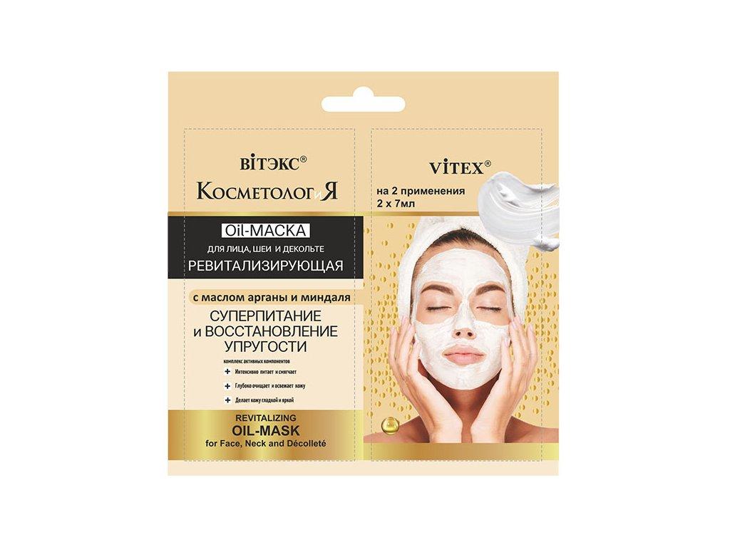 Kosmetologie – Revitalizující olejová maska na obličej, krk a dekolt s argonovým a mandlovým olejem