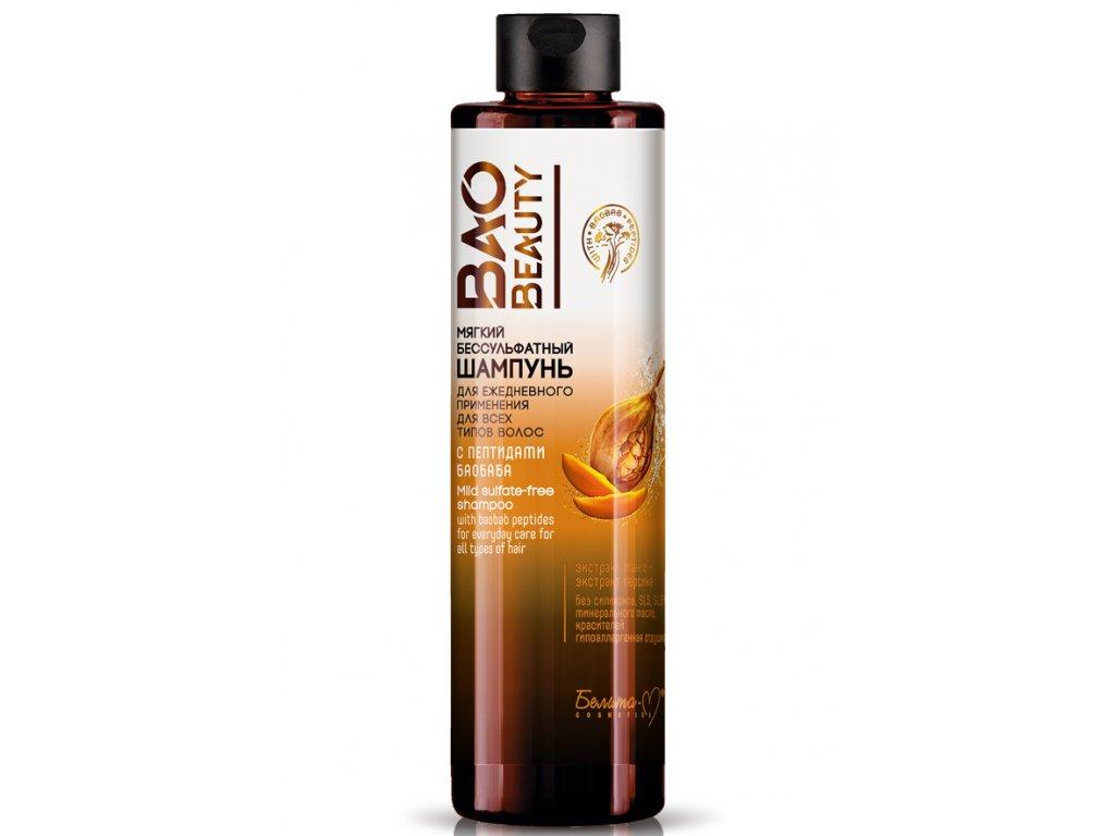 BAO BEAUTY – Hydratační šampon pro oslabené a poškozené vlasy s peptidy baobabu