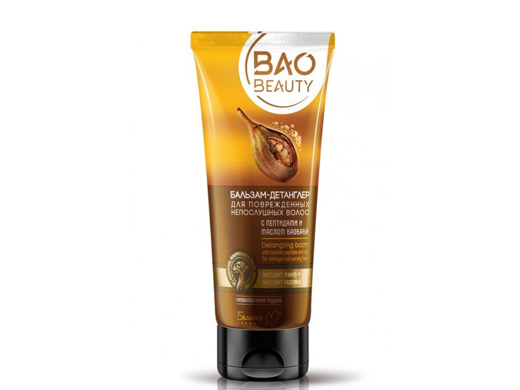 BAO BEAUTY – Balzám Detangler na poškozené nepoddajné vlasy s peptidy a baobabovým olejem