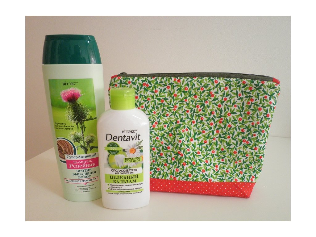 kosmetická taštička zelená