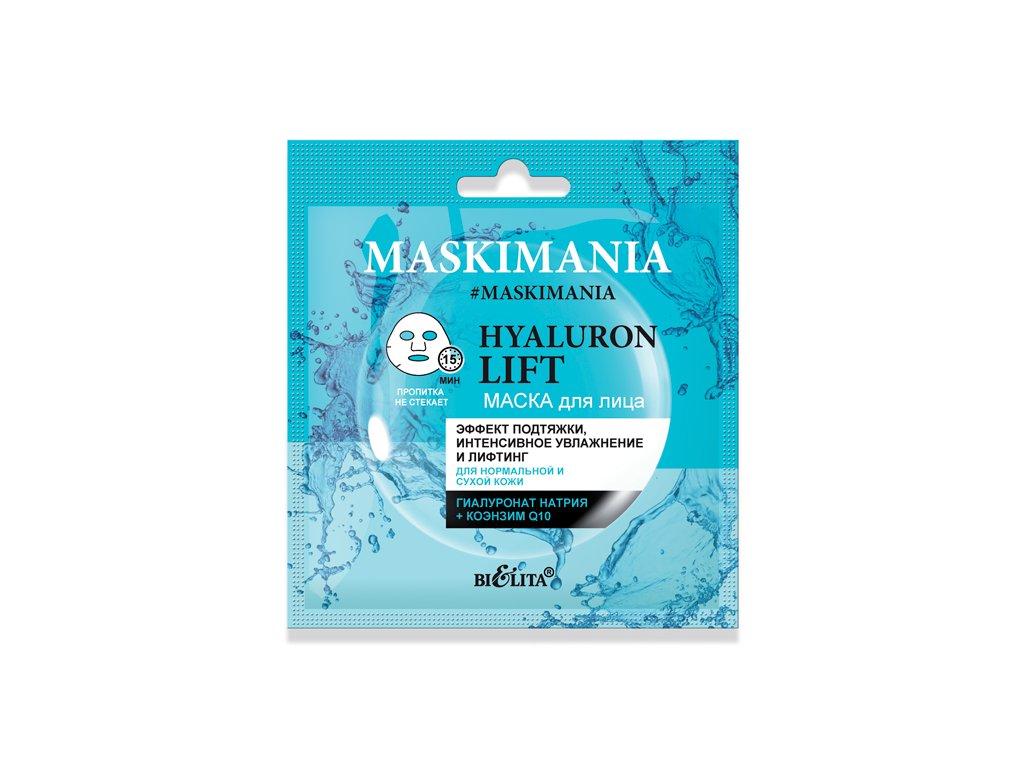 MASKIMANIA Hyaluron Lift maska na obličej Zvedací efekt intenzivní zvlhčení a lifting