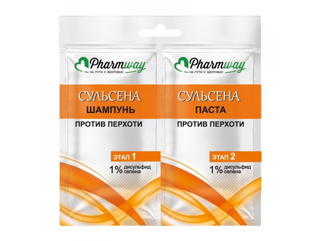 Pharmway SULSENA – ŠAMPON a PASTA proti lupům 1%