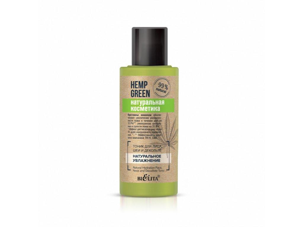 Konopná zeleň – Tonik na obličej, krk a dekolt Přírodní hydratace
