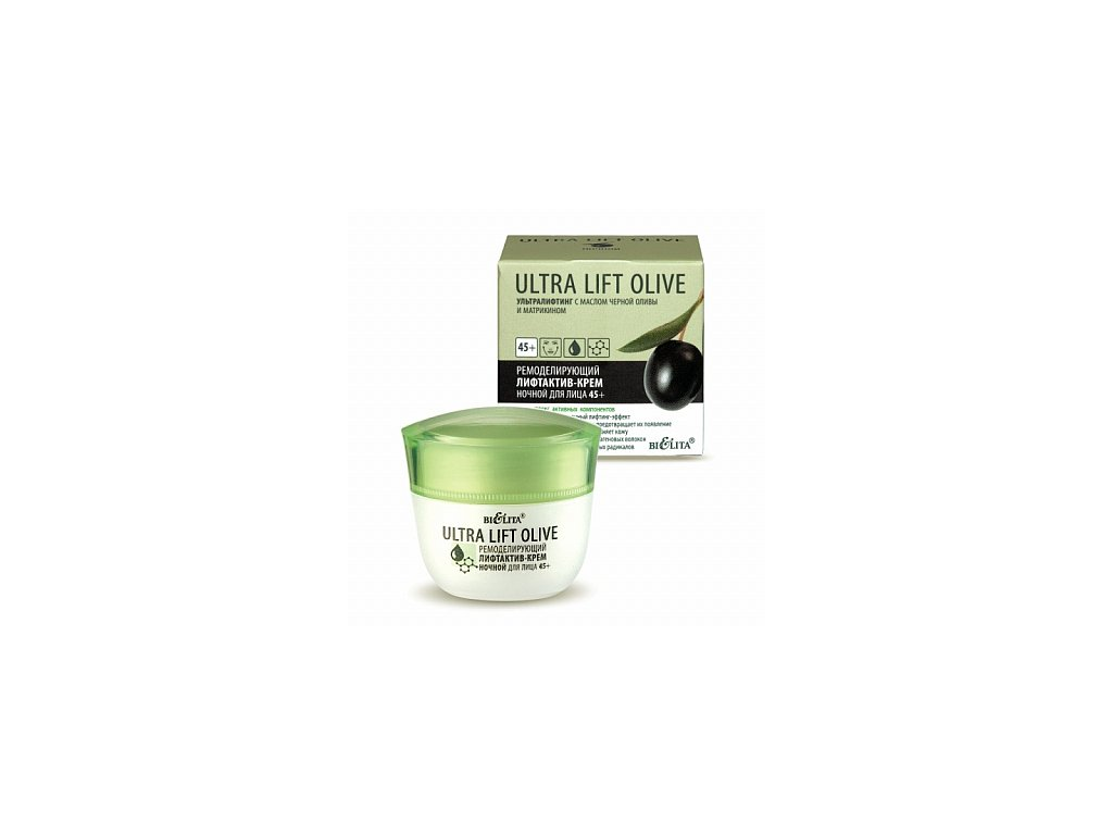 Ultra Lift Olive Modelující obličejový liftingový noční krém 45+