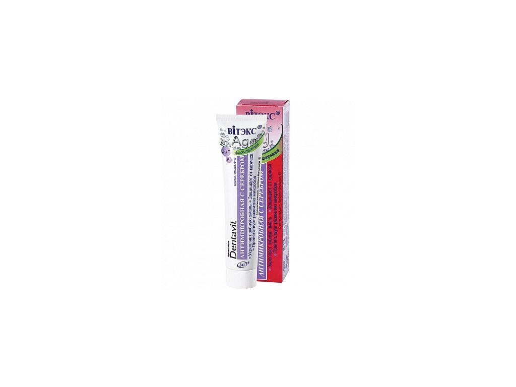 Dentavit zubní pasta antimikrobiální se stříbrem a fluorem