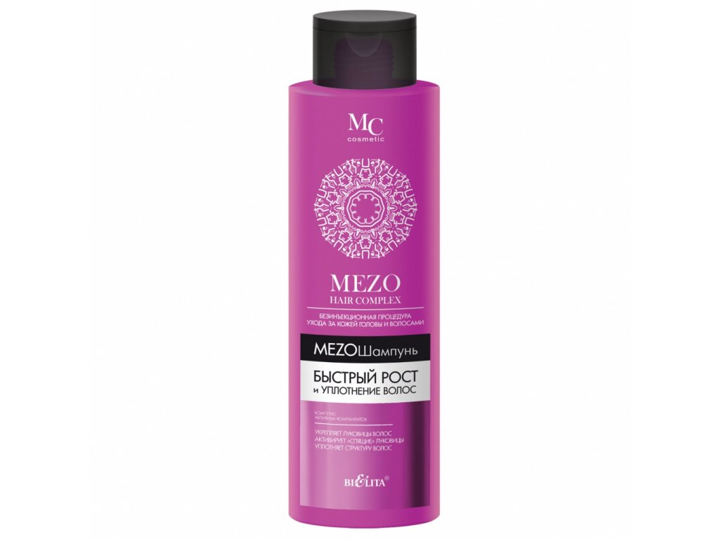 Šampon pro rychlý růst a zpevnění vlasů