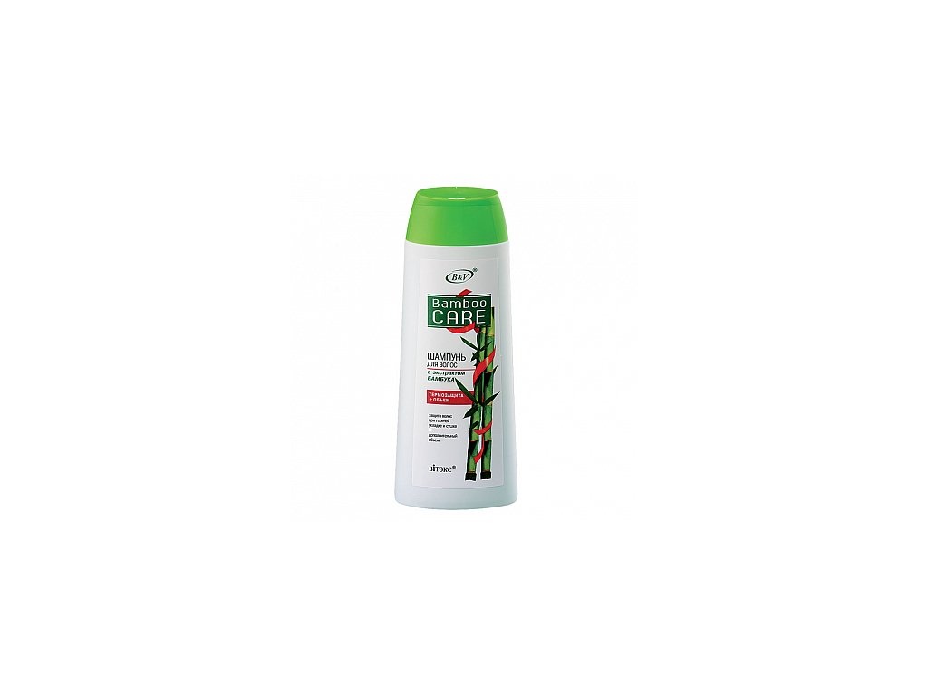 Bambusová péče – šampon na vlasy s extraktem bambusu – tepelná ochrana + objem