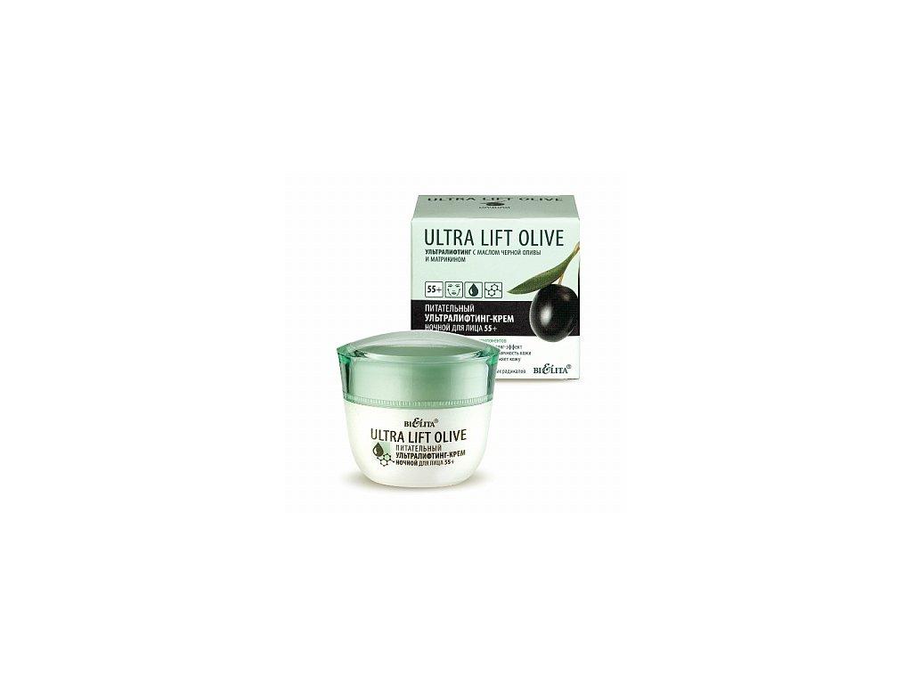 Ultra Lift Olive omlazující noční krém na obličej 55+