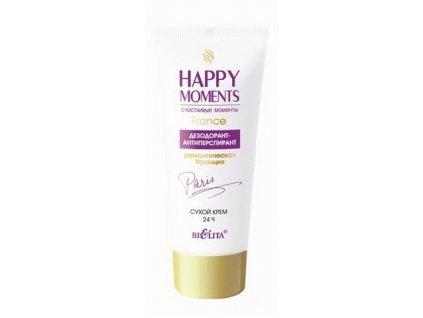 Happy Moments Dezodorant antiperspirant Suchý krém Romantická Francie 50 ml