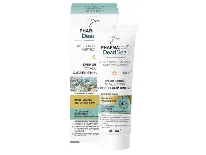 PharmaCos Dead sea Denní krém 45+ dokonalý lifting pro obličej a krk SPF 15