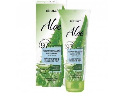 ALOE 97% Hydratační krém na obličej aloe – matující, zužující póry