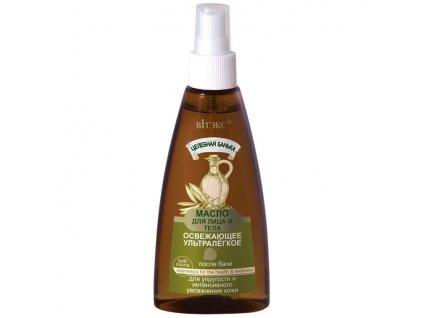 Léčebná lázeň Ultralehký olej na obličej a tělo po koupeli