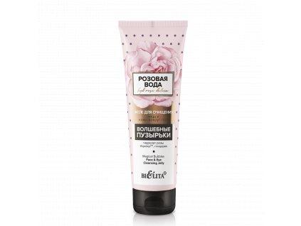 Růžová voda – Želé pro očištění obličeje a pokožky kolem očí