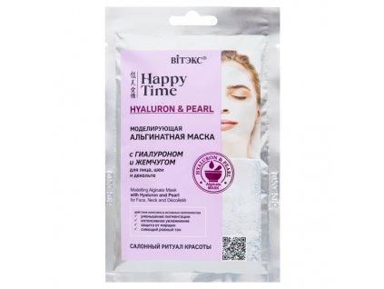 Happy Time – Alginátová pleťová maska s hyaluronem a perlami na obličej, krk a dekolt