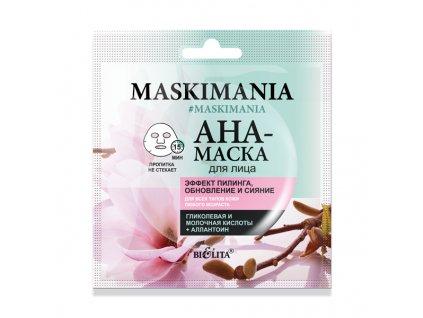 MASKIMANIA AHA maska na obličej Peelingový efekt, obnova a záře
