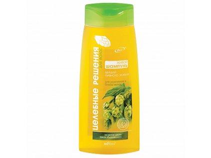 Zdravotní řešení živý šampon pro posílení a lesk vlasů ze šišek chmelu