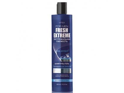 Vitex for Men Fresh Extreme. Pánský šampon gel s ochlazujícím efektem pro vlasy a tělo 400 ml